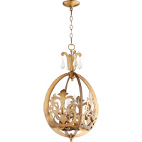 Charlton 4 Light 16 inch Aged Brass Pendant Ceiling Light