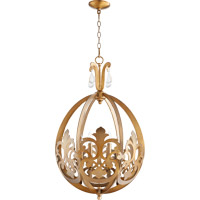 Charlton 6 Light 19 inch Aged Brass Pendant Ceiling Light