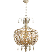 Leduc 6 Light 22 inch Florentine Gold Pendant Ceiling Light