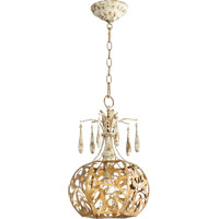 Quorum 8356-61 Leduc 1 Light 11 inch Florentine Gold Pendant Ceiling Light