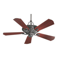 Quorum International Salon 3 Light Ceiling Fan in Toasted Sienna 83565-44