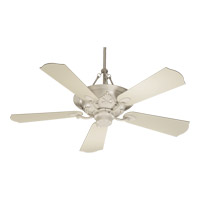 Quorum International Salon 3 Light Ceiling Fan in Antique White 83565-67