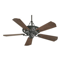 Salon 56 inch Old World with Rosewood Blades Ceiling Fan