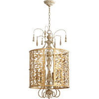 Quorum 8357-6-61 Leduc 6 Light 18 inch Florentine Gold Pendant Ceiling Light