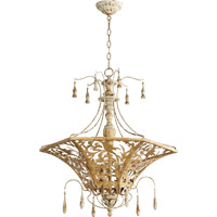 Quorum 8359-6-61 Leduc 6 Light 27 inch Florentine Gold Pendant Ceiling Light