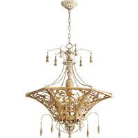 Quorum 8359-6-61 Leduc 6 Light 27 inch Florentine Gold Pendant Ceiling Light