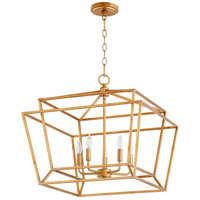Quorum 8407-5-74 Monument 5 Light 21 inch Gold Leaf Nook Ceiling Light