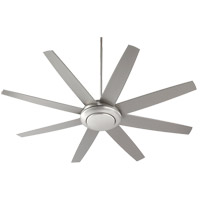 Quorum Modesto 2 Light Ceiling Fan in Satin Nickel 84708-65