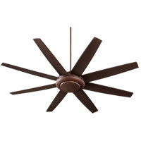 Quorum Modesto 2 Light Ceiling Fan in Oiled Bronze 84708-86