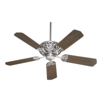 Windsor 52 inch Antique Silver with Rosewood Blades Ceiling Fan