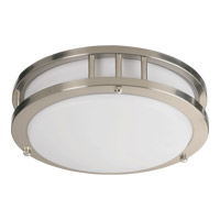 Quorum 87210-1-65 Signature 1 Light 10 inch Satin Nickel Flush Mount Ceiling Light