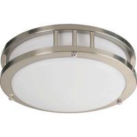 Quorum 87210-1-65 Signature 1 Light 10 inch Satin Nickel Flush Mount Ceiling Light