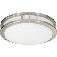 Quorum 87215-1-65 Signature 1 Light 14 inch Satin Nickel Flush Mount Ceiling Light