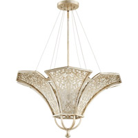 Quorum 875-4-60 Bastille 4 Light 29 inch Aged Silver Leaf Pendant Ceiling Light