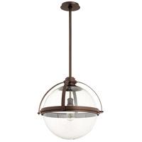 Quorum 88-20-86 Meridian 1 Light 20 inch Oiled Bronze Pendant Ceiling Light