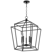 Quorum 8807-5-69 Monument 5 Light 18 inch Noir Foyer Pendant Ceiling Light