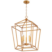 Quorum 8807-5-74 Monument 5 Light 18 inch Gold Leaf Foyer Pendant Ceiling Light