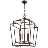 Quorum 8807-5-86 Monument 5 Light 18 inch Oiled Bronze Foyer Pendant Ceiling Light