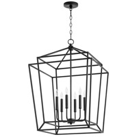 Quorum 8807-6-69 Monument 6 Light 21 inch Noir Foyer Pendant Ceiling Light