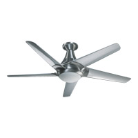 Quorum International Daystar 1 Light Ceiling Fan in Brushed Aluminum 88525-16