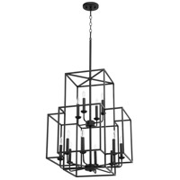 Quorum 8867-12-69 Torres 12 Light 22 inch Noir Foyer Pendant Ceiling Light