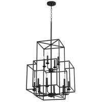Quorum 8867-12-69 Torres 12 Light 22 inch Noir Foyer Pendant Ceiling Light