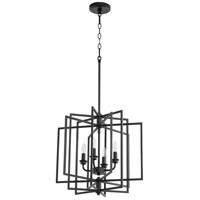 Quorum 888-4-69 Hammond 4 Light 19 inch Noir Pendant Ceiling Light