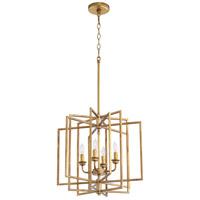 Quorum 888-4-74 Hammond 4 Light 19 inch Gold Leaf Pendant Ceiling Light
