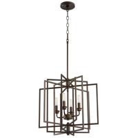 Quorum 888-4-86 Hammond 4 Light 19 inch Oiled Bronze Pendant Ceiling Light