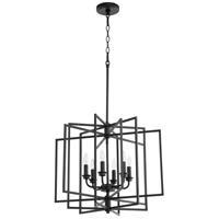 Quorum 888-6-69 Hammond 6 Light 22 inch Noir Pendant Ceiling Light