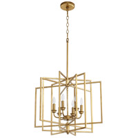 Quorum 888-6-74 Hammond 6 Light 22 inch Gold Leaf Pendant Ceiling Light