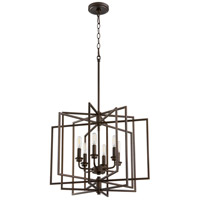 Quorum 888-6-86 Hammond 6 Light 22 inch Oiled Bronze Pendant Ceiling Light