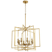 Quorum 888-8-74 Hammond 8 Light 26 inch Gold Leaf Pendant Ceiling Light