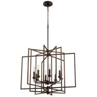 Quorum 888-8-86 Hammond 8 Light 26 inch Oiled Bronze Pendant Ceiling Light