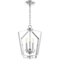 Quorum 894-3-14 Fort Worth 3 Light 13 inch Chrome Mini Chandelier Ceiling Light Quorum Home