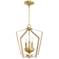 Quorum 894-3-80 Signature 3 Light 13 inch Aged Brass Mini Chandelier Ceiling Light Quorum Home