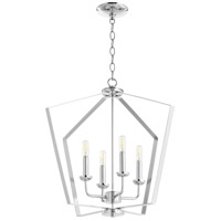 Quorum 894-4-14 Signature 4 Light 23 inch Chrome Mini Chandelier Ceiling Light Quorum Home