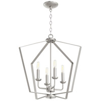 Quorum 894-4-65 Signature 4 Light 23 inch Satin Nickel Foyer Pendant Ceiling Light Quorum Home