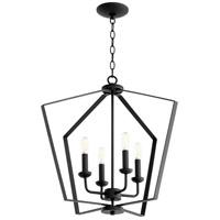 Quorum 894-4-69 Signature 4 Light 23 inch Noir Foyer Pendant Ceiling Light Quorum Home