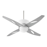 Quorum International Astra 1 Light Ceiling Fan in Brushed Aluminum 89524-16