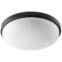 Quorum 902-15-69 Signature 1 Light 15 inch Noir Flush Mount Ceiling Light Quorum Home