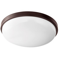 Quorum 902-15-86 Signature LED 15 inch Oiled Bronze Flush Mount Ceiling Light Round