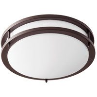 Quorum 903-12-86 Signature LED 12 inch Oiled Bronze Flush Mount Ceiling Light Round