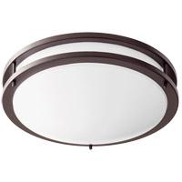 Quorum 903-15-86 Signature LED 15 inch Oiled Bronze Flush Mount Ceiling Light Round