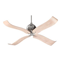 Jubilee 52 inch Satin Nickel with Distressed Weathered Pine Blades Ceiling Fan