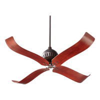 Quorum 90524-86 Jubilee 52 inch Oiled Bronze with Distressed Vintage Walnut Blades Ceiling Fan