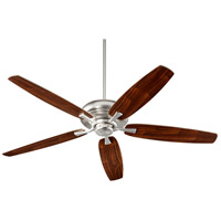 Quorum 90565-65 Apex 56 inch Satin Nickel with Satin Nickel/Walnut Blades Indoor Ceiling Fan