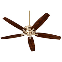 Quorum 90565-80 Apex 56 inch Aged Brass with Dark Oak/Walnut Blades Indoor Ceiling Fan