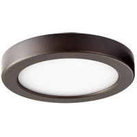 Quorum 906-7-86 Signature LED 7 inch Oiled Bronze Flush Mount Ceiling Light Round