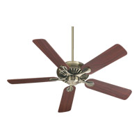 Quorum 91525-4 Pinnacle 52 inch Antique Brass with Medium Oak Blades Ceiling Fan